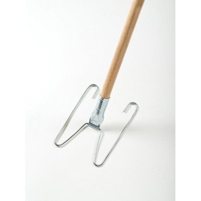 Rubbermaid Commercial Products U110 Wedge System Dust Mop Handle & Frame, Natural & Chrome by
