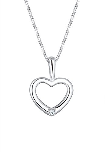 Diamore-Damen-Kette-mit-Anhnger-Herz-925-Silber-Diamant-002-ct-Weiss-Brillantschliff-45-cm
