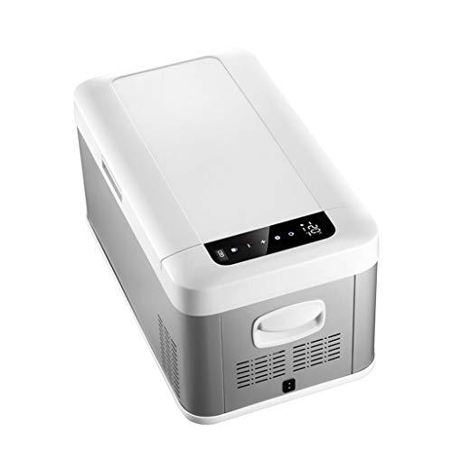 MCLJR Mini-Kühlschrank und Heizung/Auto-Kühlschrank/kompakter elektrischer Kühler, 18 Liter, für Autos, Büro, Picknicks, Grillen, Camping, Heckklappen und im Freien -