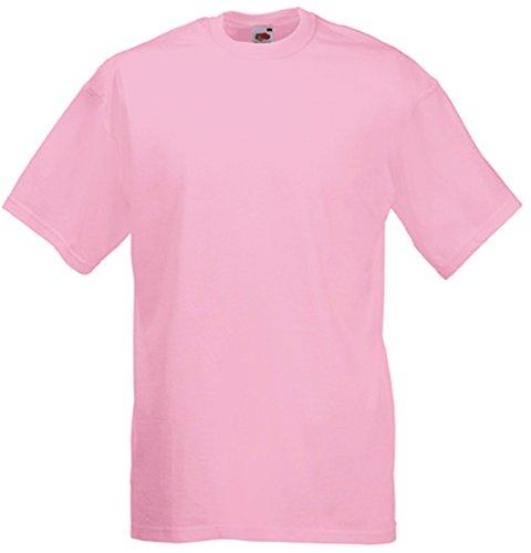 Rundhalsausschnitt, Mit Pink (Valueweight T, Größe:XL;Farbe:Light Pink XL,Light Pink)