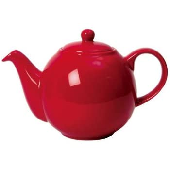 Dexam London Pottery 2 Cup Globe Teapot Red
