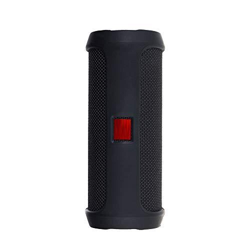 Prevently Portable Silikonhülle Für Jbl Flip 4 Bluetooth Lautsprecher Tragbare Bergsteigen Silikonhülle für Reisetasche Soft Silica Gel Aufbewahrungstasche Audio Case (Schwarz) Silica Gel Case