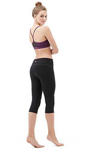 Tesla yoga 43,2cm Capri mid-waist pantaloni W tasca nascosta FYP21 TM-FYP21-BLK