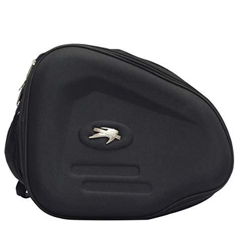 Preisvergleich Produktbild Jakiload Motorrad-Langstreckenreitausrüstung Helmkantenbeutel-Reitstiefel-Tasche (Color : Black)