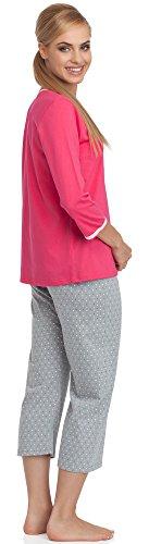 Cornette Damen Schlafanzug CR-642/01 Rosa
