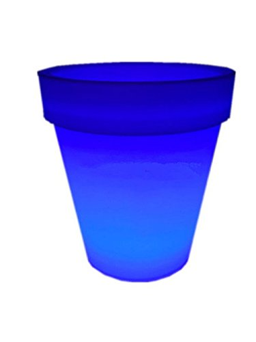 4PCS LED Leuchtmittel Rundes Tablett Blumentopf Farben Wechselhafte Luminous Flash Blumenkübel Übertopf Indoor Pflanztopf - 5