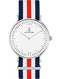 Kapten & Son Reloj los Hombres Campus Silver Racer - Campus White Silver Racer