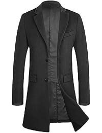 Langer schwarzer mantel wolle