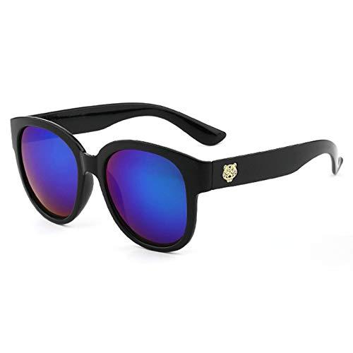 Aeici Sonnenbrillen Frauen Vogue PC + Resin Retro Runde Sonnenbrille Schwarz Grün Sonnenbrillen