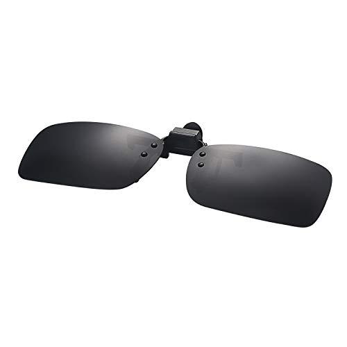 Aroncent UV400 Sonnenbrillen Vorhänger Brille Aufsatz Clip On Polarisiert, 2 Größe, Braun Gelb Grün Grau