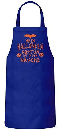ShirtStreet Grusel Gruppen Frauen Herren Barbecue Baumwoll Grillschürze Kochschürze Mein Halloween Kostüm ist in der Wäsche 3, Größe: OneSize,Royal ()