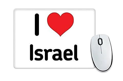 I love ISRAEL Mauspad Herz Geschenk Idee Weihnachten Funny
