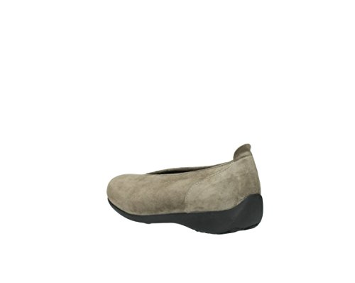 Wolky BALLET, Mocassini donna 415 taupe suede