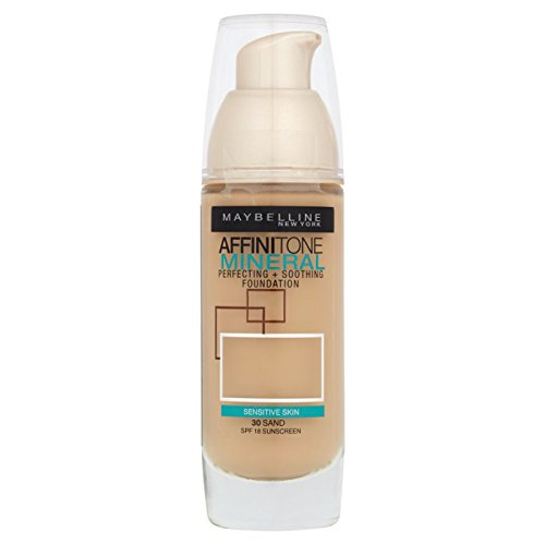 Maybelline Affinitone Mineral Foundation SPF18 30ml - 030 Sand by (Maybelline Mineral Foundation)