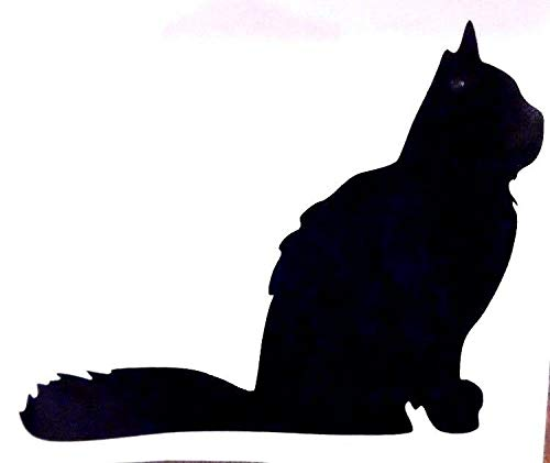 Fuzzy Cat Silhouette Cool Funny Sticker for Car Truck Bike Window Sticker Vinyl Decal Vehicle Stickers Car Styling Accessories - 10 inches - 2 Pack -