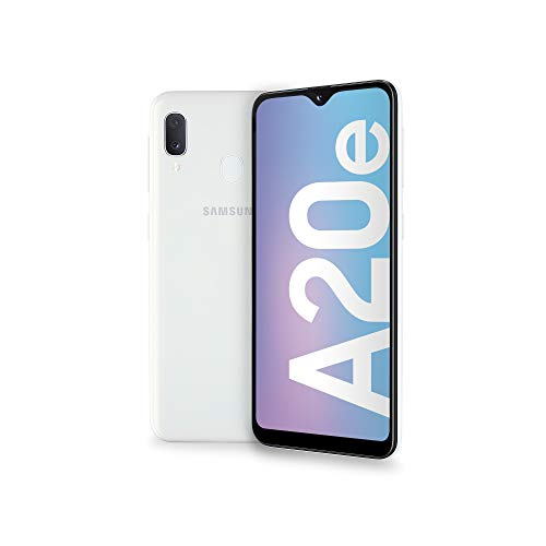 "Samsung Galaxy A20e Display 5.8"", 32 GB Espandibili, RAM 3 GB, Batteria 3000 mAh, 4G, Dual SIM Smartphone, Android 9 Pie, (2019) [Versione Italiana], White"