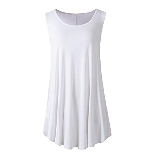 MRULIC Damen Oberteile Helle Farbe mit Knöpfe Geripptes Bluse(Z-Z-Weiß,EU-42/CN-L) -