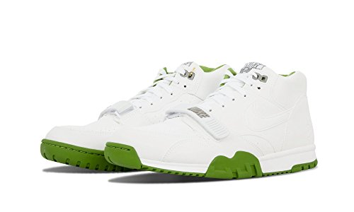 Mens Air Trainer 1 Mid Sp / Fragment Blanc / chlorophylle cuir vert Taille 8.5 multicoloured