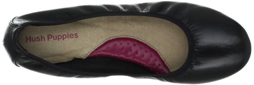 Hush Puppies  Chaste Ballet, Ballet femme Black Leather