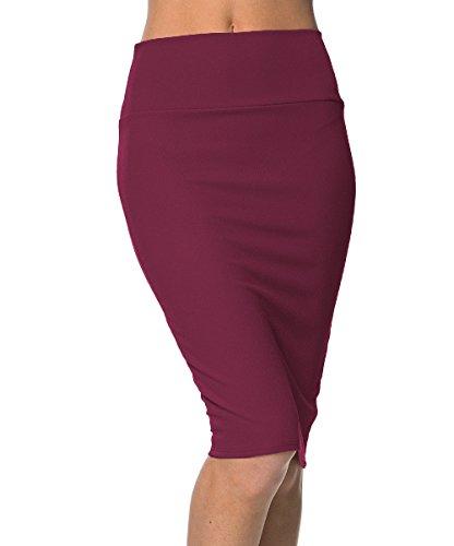 Urbancoco Women's High Waist Stretch Bodycon Pencil Skirt