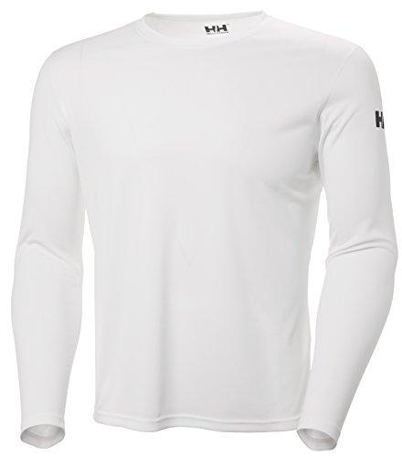 Helly Hansen HH Tech Crew Camiseta, Hombre, Blanco (Blanco 001), Large (Tamaño del Fabricante:L)