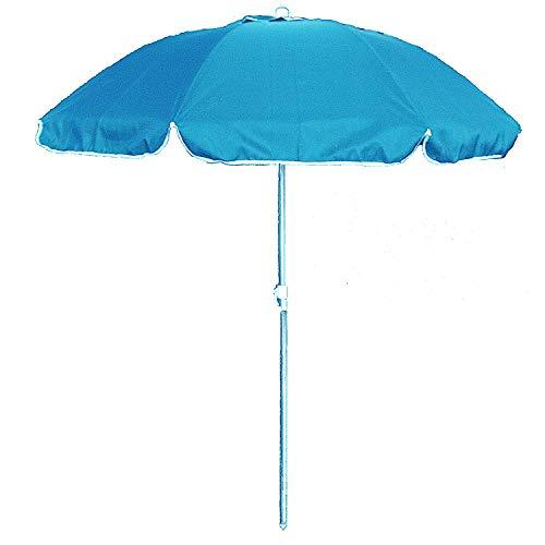 Ombrellone Portatile Da Spiaggia.Ombrellone Da Spiaggia In Policotone Diam 200cm Ombrellone Mare Portatile Con Custodia Con Tracolla Ombrellone Spiaggia O 2m Azzurro