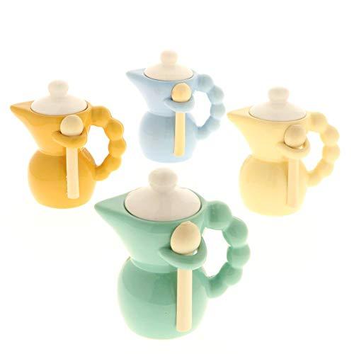 8 pz coffee moka zuccheriera porcellana manico pallino bomboniera