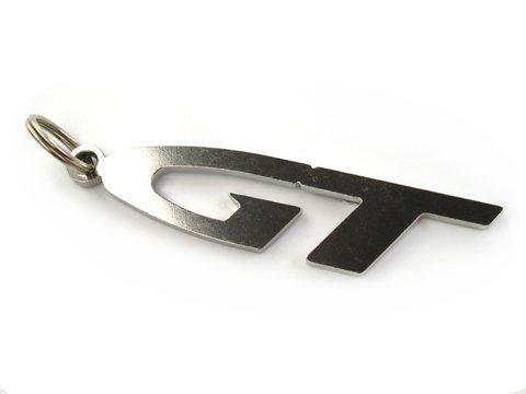 GT Emblem Schlüsselanhänger aus poliertem Edelstahl