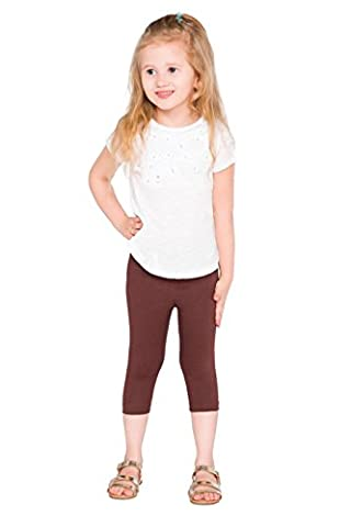 hi!mom Court Enfants 3/4 Leggings Coton Basique Uni enfants Pantalon