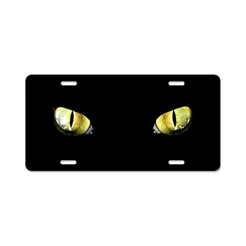 CafePress - Cat Eyes Aluminum License Plate - Aluminum License Plate, Front License Plate, Vanity Tag by CafePress