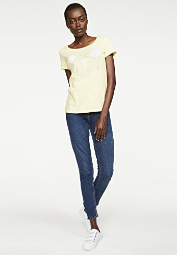 ARMEDANGELS Damen T-Shirt aus Bio-Baumwolle - Mari Ice Cream - GOTS, ORGANIC, CERES-008 Pale Yellow