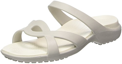 Crocs Meleen Twist, Sandales Bout Ouvert Femme, Pearl White/Oyster