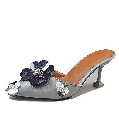 pwne Donna Summer Tacchi Foro Similpelle Calzature Outdoor Abbigliamento Sportivo Stiletto Heel Fibbia Marrone Scuro Nastro Nero A Piedi US6 / EU36 / UK4 / CN36