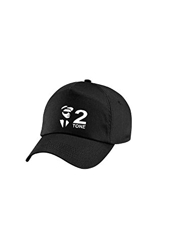 2 Tone Black Baseball Cap for Adults