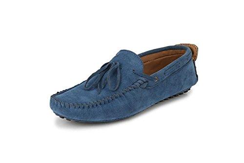 Big Fox Men's Casual Kiltie Tasseled Loafers/Moccasins Shoes, Matte Brown/Navy Blue/Black/Red (8,...