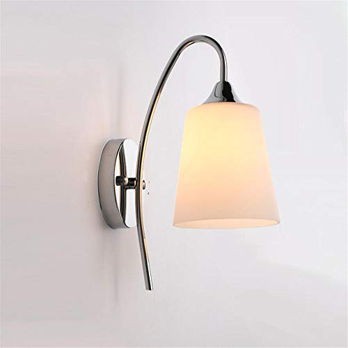 LED Wandleuchte Innen/Außen Modern Beleuchtung Acryl mit Einstellbar Abstrahlwinkel IP65 Wasserdichte für Wohnzimmer,Schlafzimmer,Treppenhaus,Flur[Energieklasse A++]/Silber_Weißes Licht