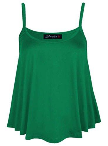 Generic - Débardeur - Sans Manche - Femme Multicolore Bigarré Taille Unique Vert jade
