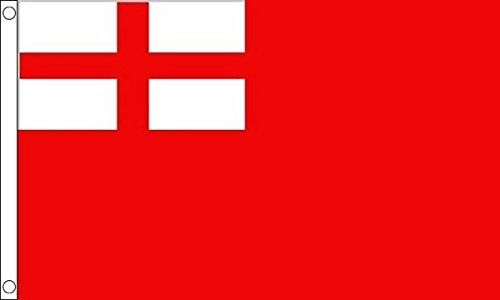 Flag Wholesaler 1620-1707 Ensign Flagge, rot, Large (Flag Red Football)