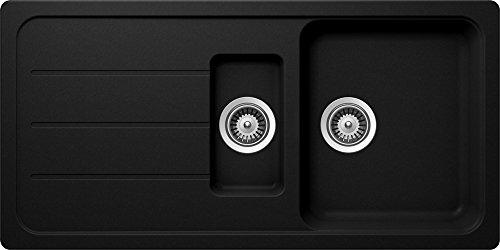 Schock Formhaus D-150 L Onyx Granit-Spüle Küchenspüle Schwarz Einbau Spüle Auflage