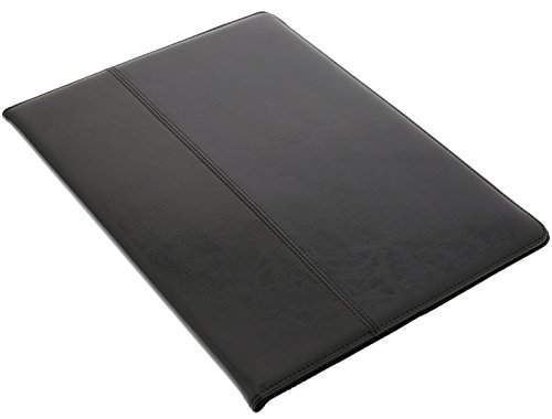 QLEDER ipad air -Laguna Beach- apple Leder Tasche Hülle Case echt Kalbsleder, smart Cover, sleep wake, Klapp Stand Funktion, Magnet, schwarz