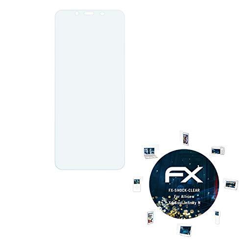 atFolix Schutzfolie kompatibel mit Allview X4 Soul Infinity N Panzerfolie, ultraklare & stoßdämpfende FX Folie (3X)