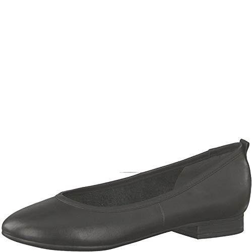 Tamaris 1-1-22114-22 Damen KlassischeBallerinas,Flats,Sommerschuh,klassisch elegant,Touch-IT,Black/NO Bow,38 EU -