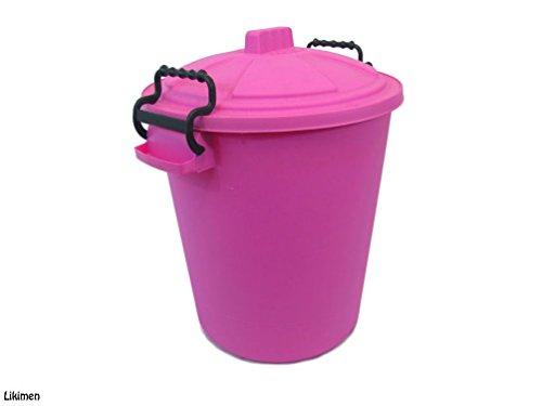 Coloured Bin 50L Litre / Dustbin / Rubbish Bin / Waste Recycle Childrens Bedroom