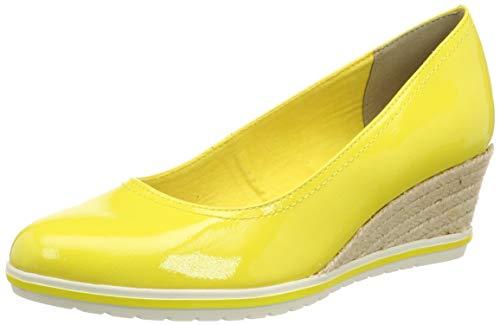 Tamaris Damen 1-1-22441-22 611 Pumps, Gelb (Sun Patent 611), 39 EU (Frauen Wedges Für Schuhe Pink)