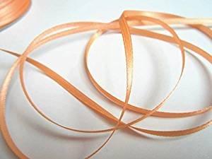 100m 3mm breit Satin Schleifenband Geschenkband Satinband Dekoband Hochzeit Weihnachten (Apricot)