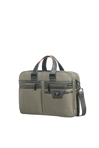 SAMSONITE Zenith - Bailhandle 15.6 Expandable Ventiquattrore, 42 cm, 17.5 liters, Nero (Black) Grigio