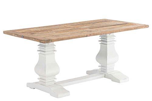 CLP Esszimmertisch Severus aus Holz | Handgefertigter Holztisch im Landhausstil Größen erhältlich Natura, 260 x 100 x 78 cm -