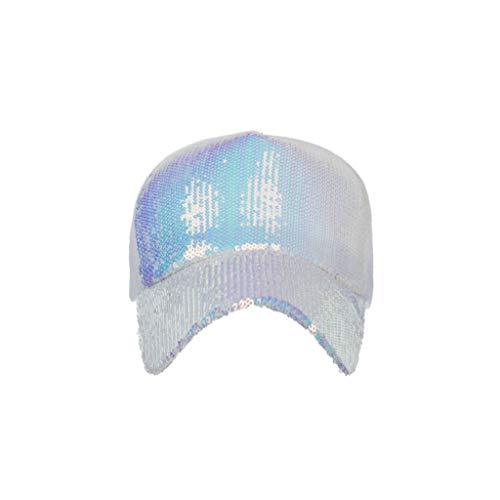 ap Unisex Mütze, Kappe für Herren Und Damen, Einfarbige Basecap, Rundum Geschlossen Sonnenhut mit Pailletten Netzkappen Baseballmütze Im Freien ()