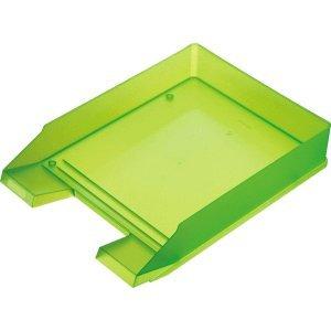 5 x Helit Briefablage A4 Economy Polystyrol grün transluzent