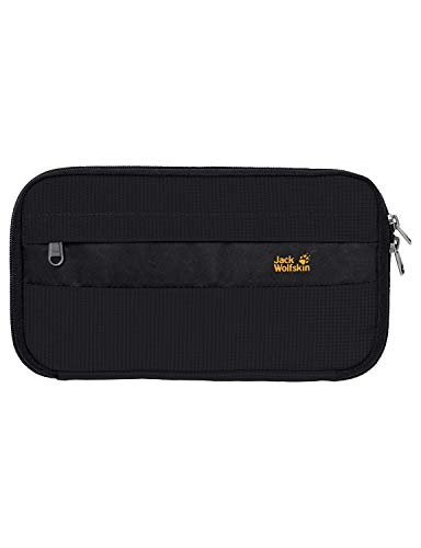 Jack Wolfskin Damen Reiseportemonnaie BOARDING POUCH RFID, black, 26.5 x 14.5 x 3 cm, 0.50 Liter